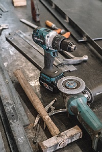 drill and grinder
