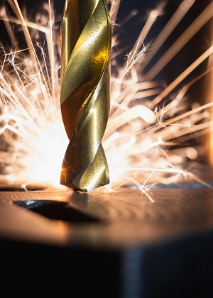 drill causing sparks