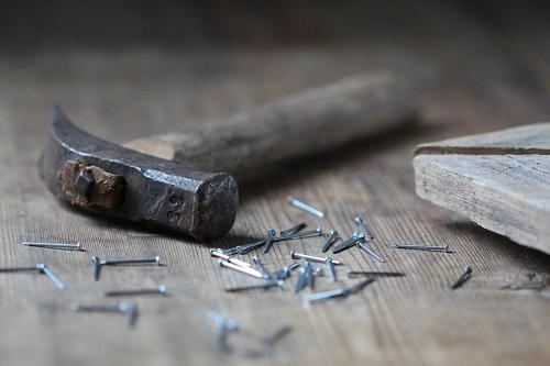 hammer and pins